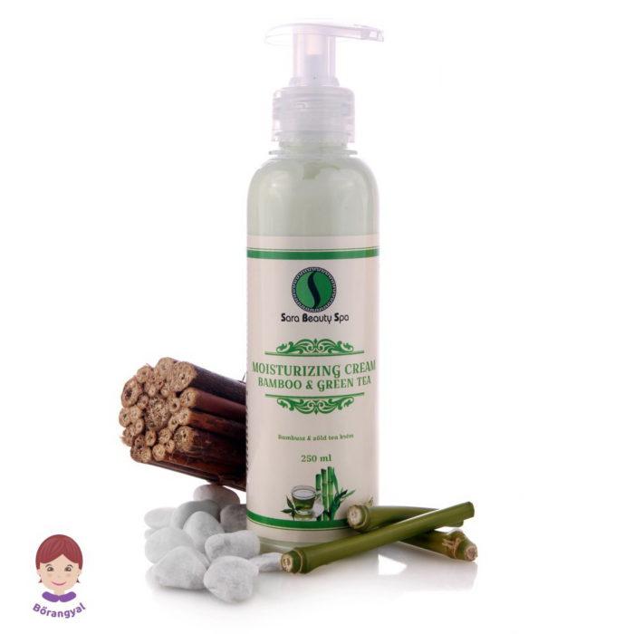 Sara Beauty Spa Bőrnyugtató Hidratáló Testápoló Bambusz és Zöld Tea Kivonattal
